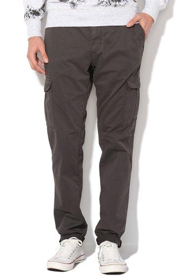 Alcott Pantaloni cargo chino slim fit gri inchis
