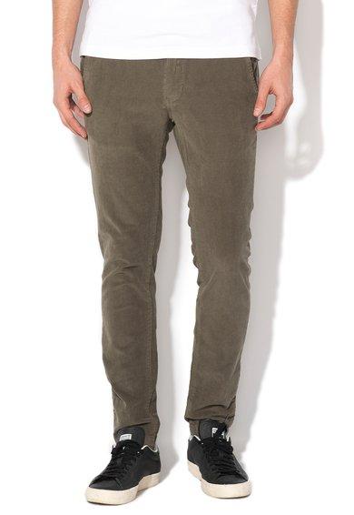 Pantaloni chino reiati slim fit verde oliv de la Alcott