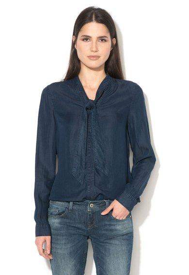 Camasa albastra din material chambray lyocell Nanna de la Vero Moda