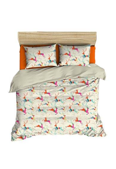 Set de pat multicolor cu imprimeu tematic de la Leunelle