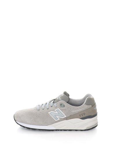 New Balance Pantofi sport gri de piele 999