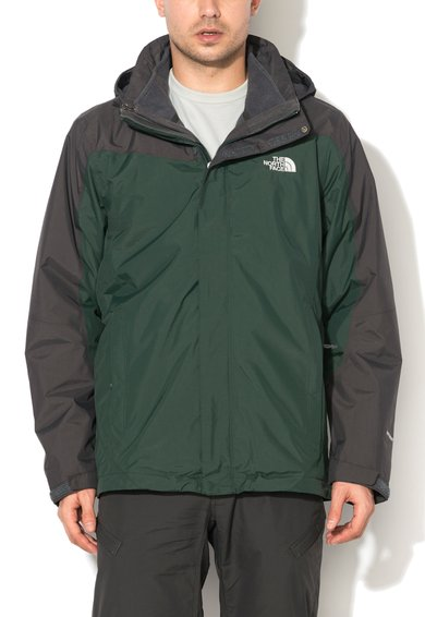 The North Face Jacheta verde cu gri 2-in-1 Zephyr