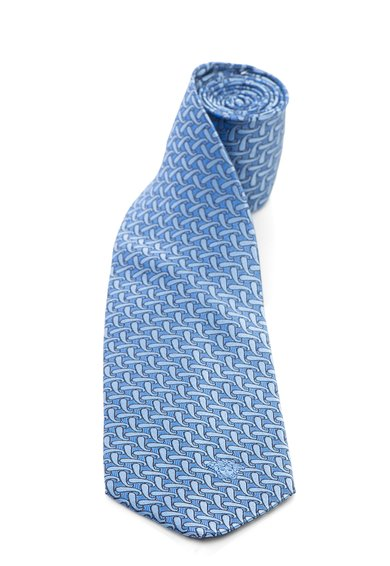 FashionDays.ro: Cravata bleu de matase cu model paisley Versace