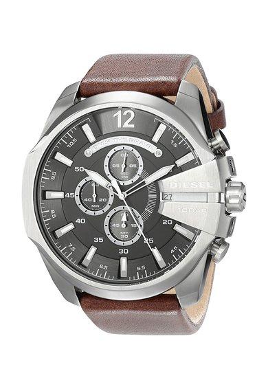 FashionDays.ro: Ceas cronograf maro cu argintiu Diesel