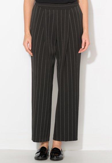 Pantaloni crop drepti negri de la Zee Lane Collection