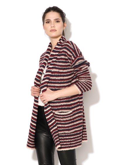 ESPRIT Cardigan tricolor din amestec de lana