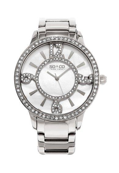 SO&CO New York Ceas argintiu cu cristale Madison