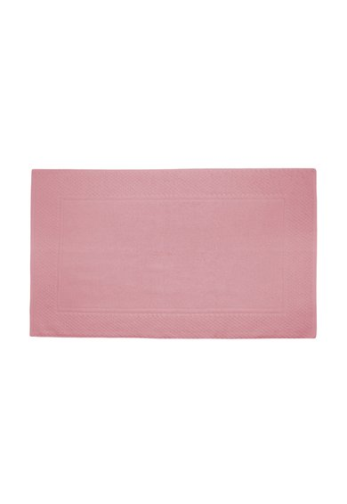 Covoras de baie roz cu textura moale