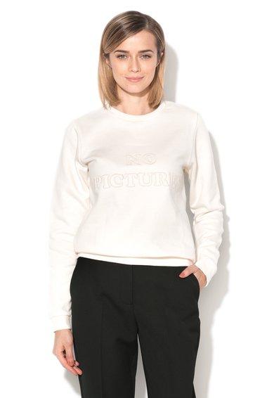 Bluza sport alb unt cu aplicatie text Blopic de la Eleven Paris
