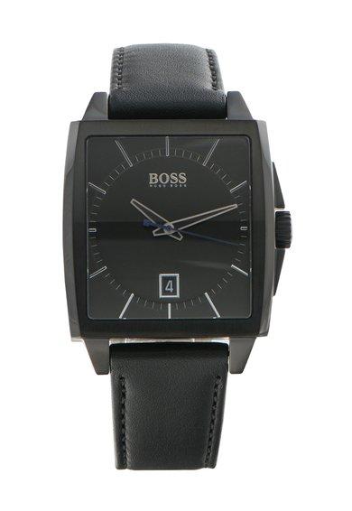 FashionDays.ro: Ceas negru cu o curea de piele Modern Hugo Boss