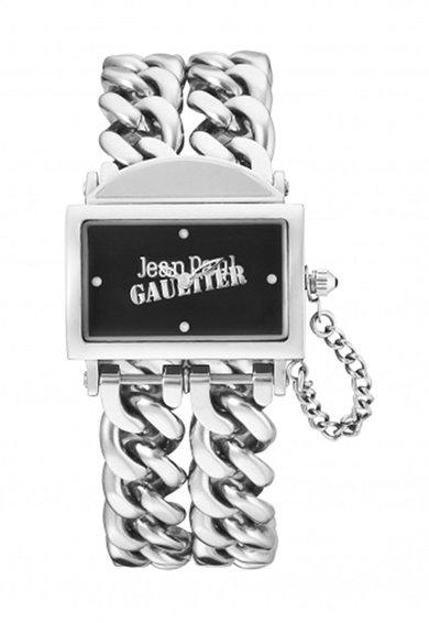 Jean Paul Gaultier Ceas argintiu cu bratara din lant dublu 325