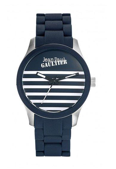 Jean Paul Gaultier Ceas bleumarin cu design in dungi Navy