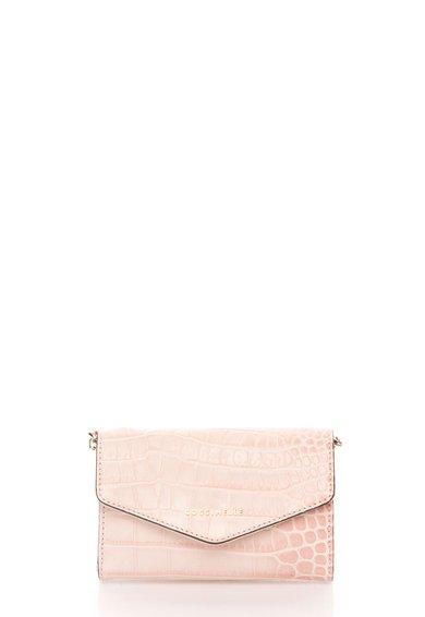 Geanta crossbody roz deschis de piele cu model de la COCCINELLE