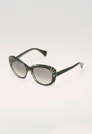 Alexander McQueen Ochelari de soare verde inchis
