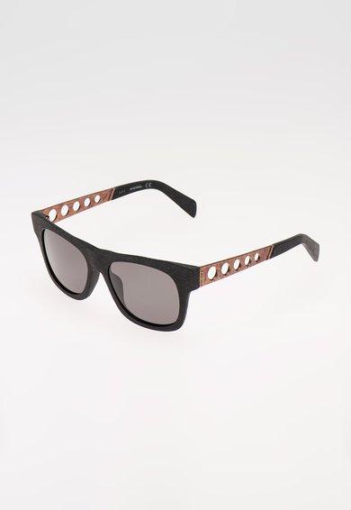FashionDays.ro: Ochelari de soare negri cu aspect de lemn Diesel