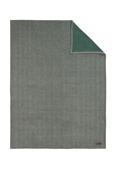Ibena Patura gri cu verde cu model herringbone Aberdeen