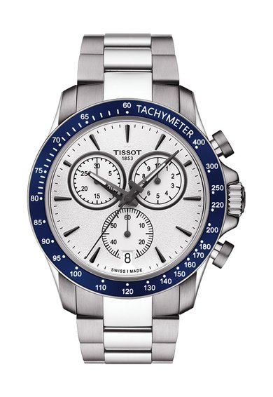 FashionDays.ro: Ceas cronograf argintiu cu coroana bleumarin V8 Tissot