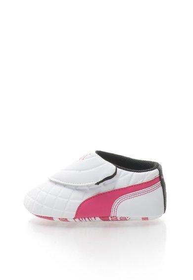 Pantofi slip-on alb cu fucsia Drift Cat de la Puma