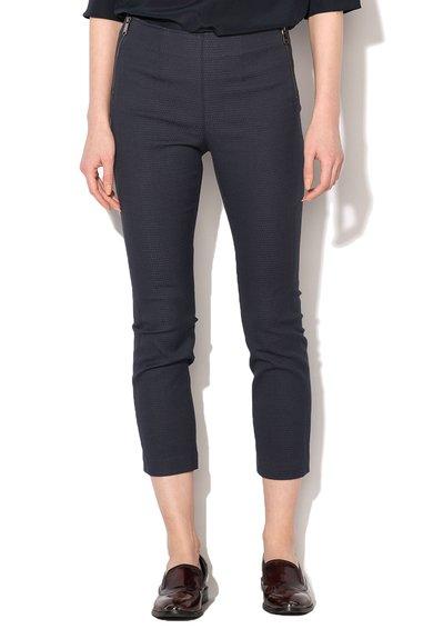 MaxCo Pantaloni crop bleumarin cu model texturat Dedurre