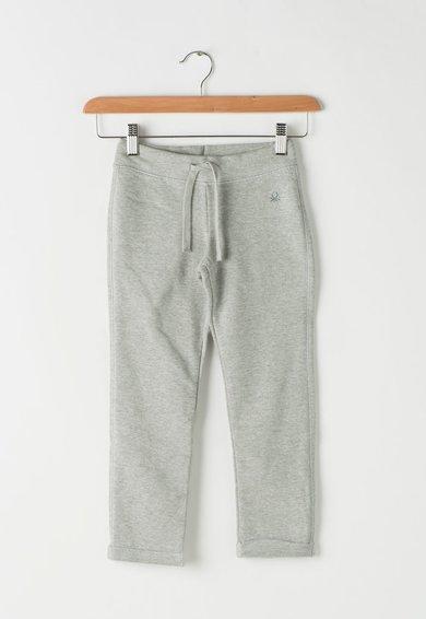 Pantaloni sport gri melange cu snur pentru ajustare de la United Colors Of Benetton