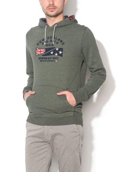 New Zealand Auckland Hanorac verde militar melange Garry