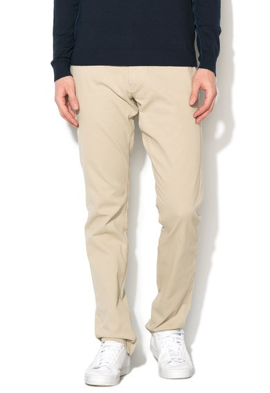 GUESS JEANS Pantaloni skinny bej texturati Myron