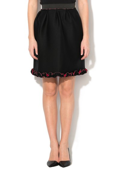 FashionDays.ro: Fusta neagra de neopren cu talie elastica Yasu Fornarina