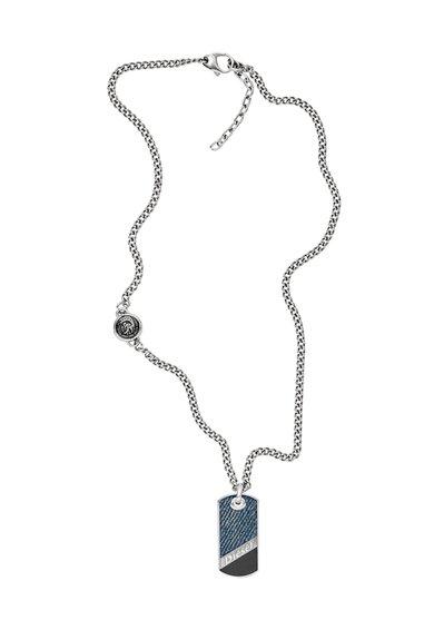 FashionDays.ro: Colier argintiu cu pandantiv Diesel