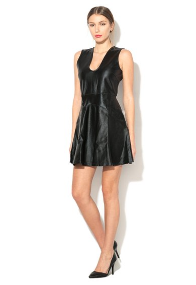 French Connection Rochie neagra peliculizata Twighlight