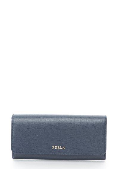 Portofel bleumarin de piele saffiano Babylon de la Furla