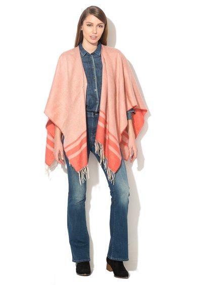 EDC by ESPRIT Poncho roz somon cu model in dungi