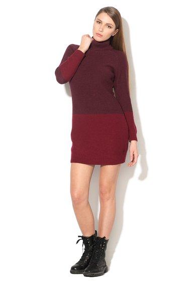 EDC by ESPRIT Rochie tip pulover rosu Bordeaux cu rosu inchis