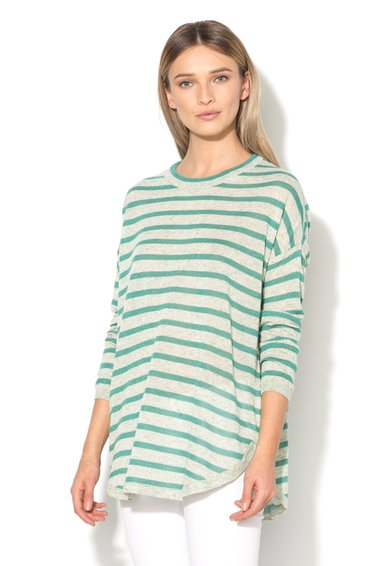 Vero Moda Bluza supradimensionata gri melange cu verde Altha
