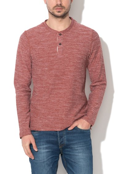 Bluza sport tricotata rosu caramiziu melange Sebastian de la JackJones
