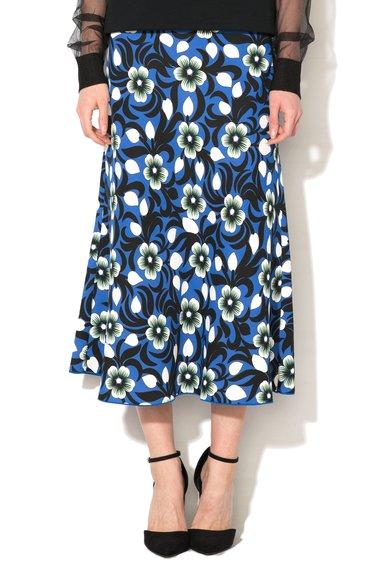 FashionDays.ro: Fusta multicolora cu imprimeu floral si croiala in A Luna Sportmax Code