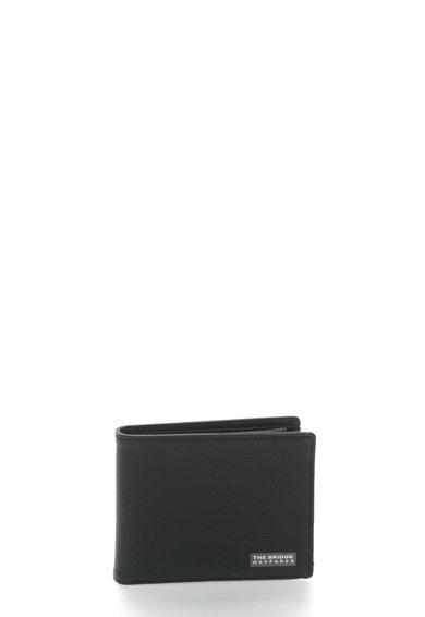 The Bridge Wayfarer Portofel pliabil negru de piele saffiano