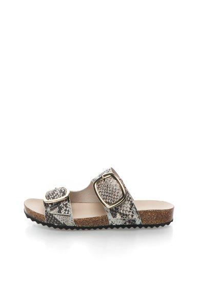FashionDays.ro: Papuci negru cu alb si imprimeu sarpe Philly Rachel Zoe