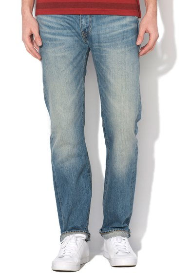 Levis Jeansi slim fit drepti albastri Winter Sunshine 513