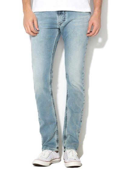 Diesel Jeansi jogg albastri cu aspect tratat Thavar
