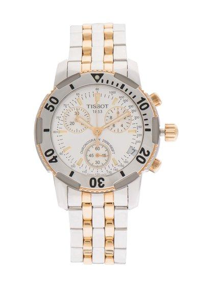 FashionDays.ro: Ceas cronograf argintiu cu auriu Tissot