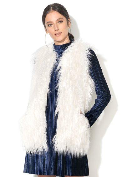 FashionDays.ro: Vesta alb fildes pufoasa BRAVE SOUL