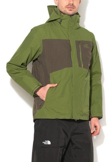 FashionDays.ro: Jacheta 2in1 verde camuflaj cu gri inchis Tiberius Triclimate The North Face