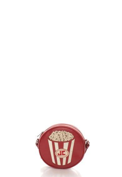 Geanta mica rotunda crossbody rosie de piele de la Just Cavalli