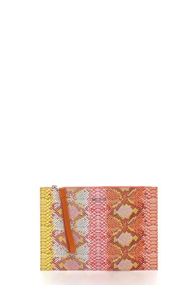 Just Cavalli Geanta plic supradimensionata oranj cu galben