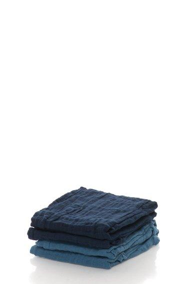 Pippi Set de scutece lavabile albastre din bumbac organic – 4 piese