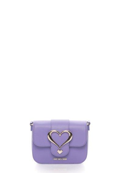Geanta mica lila cu aplicatii metalice de la Love Moschino