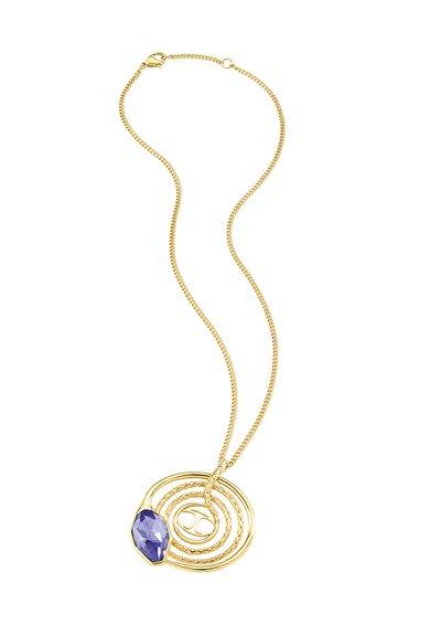 Colier auriu cu cristal violet translucid Just Hipnose de la Just Cavalli