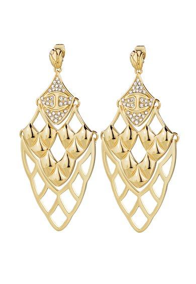 Just Cavalli Cercei candelabru aurii cu cristale Just Skin