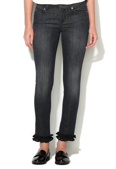 FashionDays.ro: Jeansi skinny bleumarin cu detalii de dantela Monroe Liu Jo