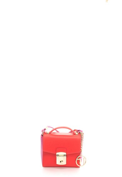 Geanta crossbody rosu cu fucsia Levanto de la Trussardi Jeans